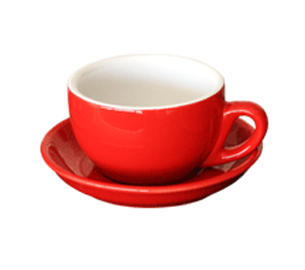 Red Cappuccino Cup & Saucer Set 210ml